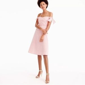 J. Crew Tie Shoulder Dress In Seersucker Stripe